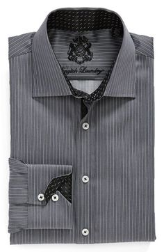English Laundry Trim Fit Stripe Dress Shirt available at Best Dress Shirts, Cool Shirts, Shirt Dress Pattern, Casual Party Dresses, Camisa Formal, Striped Dress, Printed Shirts, Shirt Style, Nordstrom