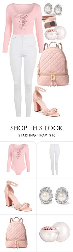 """""""Untitled #522"""" by dreamer3108 on Polyvore featuring Topshop, Avec Les Filles, Kenneth Jay Lane, MICHAEL Michael Kors, Guerlain and Bobbi Brown Cosmetics"""