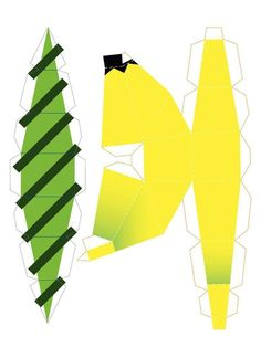 Banana Crafts, Diy Paper, Paper Crafts, Paper Fruit, Papier Diy, Craft Materials, Kirigami, Printable Paper, Paper Toys
