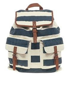 River Island | River Island Block Stripe Backpack at ASOS