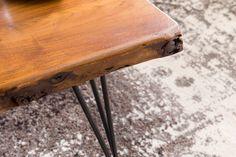 Wohnling Couchtisch Mahilo WL5.204 aus Sheesham Massivholz und Metall #Wohnzimmer #Fernsehen #Abstellmöglichkeit #Holz #Metall #Wohnidee