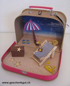 koffer ferien urlaub strand meer geldgeschenk urlaub urlaub ...