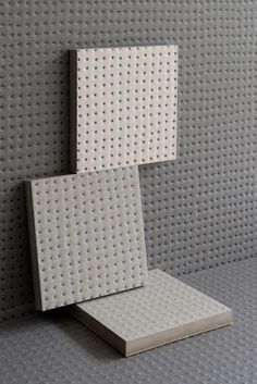 Porcelain stoneware wall tiles PICO ANTHRACITE BLUE DOTS by MUTINA design Ronan & Erwan Bouroullec