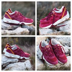 #PUMA x Shadow Society r698 - Red Plum & Rio Red, with PUMA's Trinomic motion control technology, and EVA outsole #shoes #sneakers