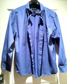 Eddie Bauer Since 1920 Men's 80's Pinpoint Light Blue Oxford Button Up Size XXL | eBay SOLD