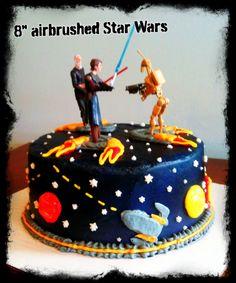 Star wars cake www.TwentyOneCakes.com