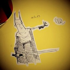 Wednesday morning #Coffeesketch n1019 in yellow #batman with a fake #lightsaber #starwarsday #maythe4thbewithyou #sketch  #art #illustration #drawing #draw #picture #photography #artist #sketch #sketchbook #artsy #instaart #beautiful #instagood  #gallery #masterpiece #creative #photooftheday #instaartist #graphics #artoftheday