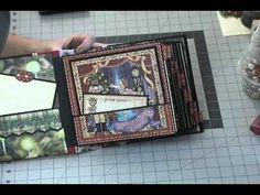 ▶ Christmas 8 x 8 Scrapbook Album - Graphic 45 Nutcracker Sweet - YouTube