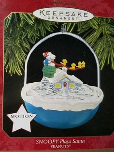 Hallmark Keepsake Ornament Snoopy Plays Santa Magic 1997 PEANUTS