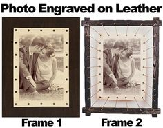 Leather engraved photo leather anniversary gift 3rd year anniversary gift engraved photo on leather Personalized