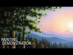 HOW TO PAINT TREES   Painting Demo - YouTube