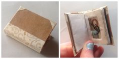 Sept/17 I haven't finished a mini book in a while... Because I've been working on making a 'fake' book with a hidden space inside! A lot of work but the result is pretty cool