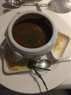 French Onion Soup at the Priory Hotel, Wareham