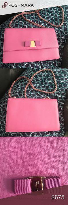 [Like New] Pink Salvatore Ferragamo shoulder bag ✨ Bag only! No box! Used once! Salvatore Ferragamo Bags Shoulder Bags
