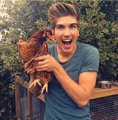 Why pin this, you ask?? Because it's Joey Graceffa and a chicken-anya of course, sunshine!