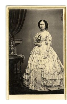 Photographic negative from Brady's National Portrait Gallery, published by E. Anthony, NY. Myra Clark Gaines (1805-1885), heiress to 35 million, wife of General Gaines.