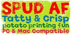 Spud AF™ - Webfont & Desktop font « MyFonts
