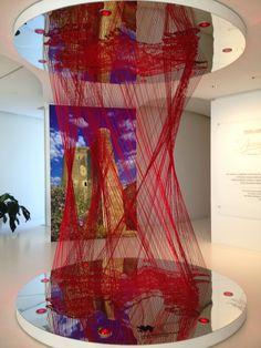 zaha hadid building - string installation