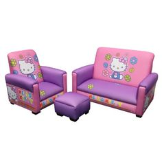 No Hello Kitty Bedroom would be complete with out this! CLICK HERE http://www.purple-bedroom-ideas.com/7/post/2013/12/hello-kitty-little-couch-and-ottoman.html