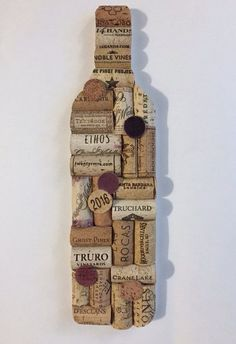 Wine Bottle Upcycled Cork Wall Art - Upcycled Home Decor - Wine Cork Bar Decor .- Wine Bottle Upcycled Cork Wall Art – Upcycled Home Decor – Wine Cork Bar Decor – Wine Gifts – Wine Cork Art – Wine Decor – Housewarming Gift Wine Craft, Wine Cork Crafts, Wine Bottle Crafts, Wine Bottle Wall, Wine Bottle Corks, Bottle Candles, Wine Cork Art, Wine Cork Table, Wine Cork Projects
