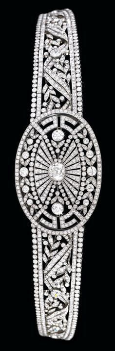 Rosamaria G Frangini | High Antique Jewellery | TJS | Art Deco Diamond Diadem. Diamond total weight 29 carats.
