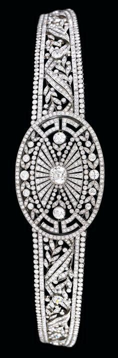 Art Deco Diamond Diadem. Diamond total weight 29 carats.