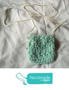 Mint Green Small Crocheted Cellphone Bag 3x4 https://www.amazon.com/dp/B01LXQJV5A/ref=hnd_sw_r_pi_dp_OYB8xbN0YT5FG #handmadeatamazon