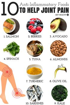 Try these 10 anti-inflammatory foods to help relieve your joint pain. Foods For Arthritis, Natural Cure For Arthritis, Foods That Help Gout, Rheumatoid Arthritis, Arthritis Remedies, Health Remedies, Anti Inflammatory Recipes, Health And Nutrition, Health Fitness