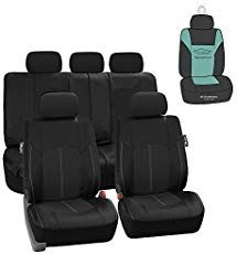 or Van Suv Truck Burgundy//Black- Fit Most Car FH Group Bright Flat Cloth Full Set Car Seat Covers