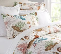 Sea Life Coastal Duvet Cover  #potterybarn