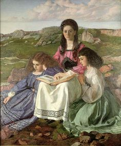 The Three Sisters of Dean Liddell by Sir William Blake Richmond. From left to right: Edith, Lorina, and Alice