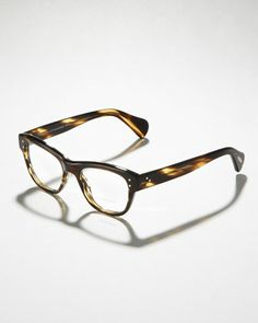 Parsons Fashion Glasses, Brown by Oliver Peoples at Bergdorf Goodman.