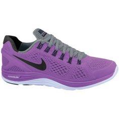 Nike LunarGlide + 4 - Women's - Laser Purple/Black/Cool Grey/Palest Purple