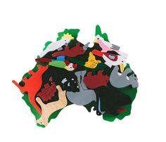 Timber Australian Animals on Timber Australian Map - hardtofind.