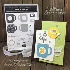 Stampin' Up! Rise & Shine Coffee Card with Sequins (Stamping To Share) Tin Can Lanterns, Altered Tins, Altered Art, Tin Can Crafts, Coffee Cards, Hand Stamped Cards, Friendship Cards, Handmade Headbands, Handmade Journals