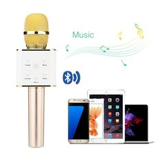 Portable Wireless Karaoke Microphone, Bluetooth Handheld Karaoke Speakers Portable KTV, Karaoke MIC Machine for iPhone/iPad/iPod and android by Orchid