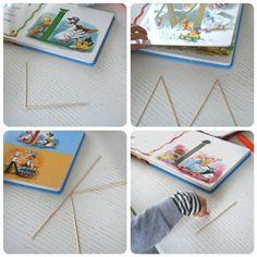 Come imparare le lettere con i bastoncini di legno