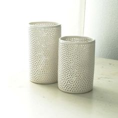 Set of votive holders from Isabelle Abramson Ceramics