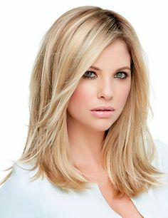"""Top Secret 12"""" Hair Addition by Jon Renau... This clip in topper integrates easily with your own hair at the crown to add body and volume. The 9-inch monofilament base is virtually invisible and offers greater comfort and styling flexibility."""