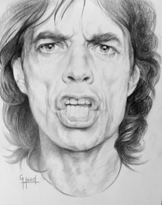 Mick Jagger by Greg Hand....Commission a drawing from your photo