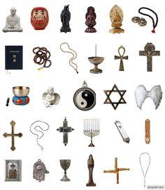 religieus: horend bij een godsdienst