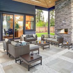 Outdoor Living Rooms, Outdoor Spaces, Outdoor Decor, Outside Living, Outdoor Ideas, Indoor Outdoor, Backyard Patio Designs, Backyard Ideas, Patio Decks