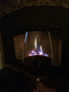 Pinot by the fire