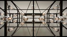Glass and bronze Light Pendant