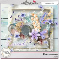 "Mon Lavandou digital scrapbooking mini kit from HappyNess Creations. A small trip to provence, in a field of lavender, this is what I propose to you with the collection ""Mon Lavandou""! """