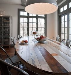 Great marriage of rustic, reclaimed and industrial! MIX has industrial metal chairs, lighting and plenty of reclaimed wood and tables! Come by our 2 showrooms on S La Brea in LA! mixfurniture.com