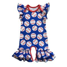 388fb41f8e0 Icing Romper Baby gown for summer football baseball season
