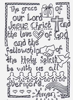 Flame: Creative Children's Ministry: The Grace: Reflective Colouring Sheet; Scripture doodles where you have to colour in the actual words and letters of a Bible verse are a great way to teach our kids how to memorise Scripture Scripture Doodle, Bible Art, Bible Coloring Pages, Coloring Sheets, Adult Coloring, Easter Colouring, Prayer Stations, Bible Crafts, Prayer Crafts