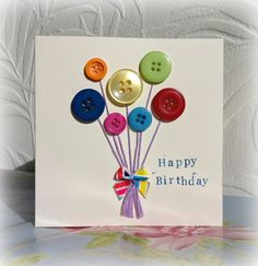 Handmade ballon bunch birthday card