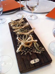 Anchovy bones - El Celler de Can Roca in Girona, Catalonia